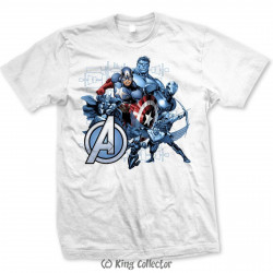 T-Shirt - Marvel - The Avengers Group Assemble - Bravado