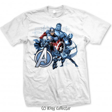 T-Shirt - Marvel - The Avengers Group Assemble - Bravado