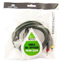 Accessoire - Microsoft - Cable AV pour Xbox 360 - Freaks and Geeks