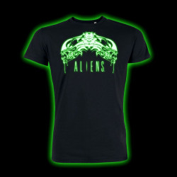 T-Shirt - Alien - Tribal Glow in the Dark - Geek Store