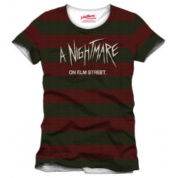 T-Shirt - Nightmare on Elm Street - Stripes - Cotton Division