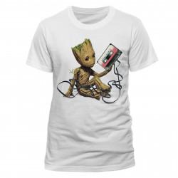 T-Shirt - Marvel - Les Gardiens de la Galaxie 2 - Groot & Tape - CID