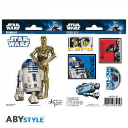 Stickers - Star Wars - R2D2 / C3PO - 2 planches de 16x11 cm - ABYstyle
