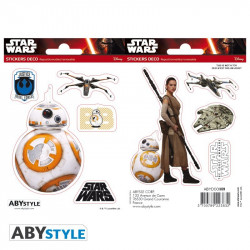 Stickers - Star Wars - BB-8 / Rey - 2 planches de 16x11 cm - ABYstyle