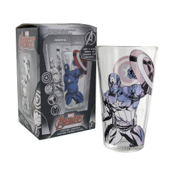 Verre - Marvel - Captain America - Thermo-réactif - Paladone Products