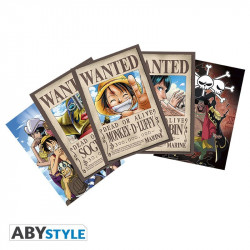 Cartes postales - Set 1 Luffy Wanted & Co - ABYstyle