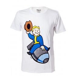 T-Shirt - Fallout 4 - Vault Boy Bomber - Bioworld Merchandising
