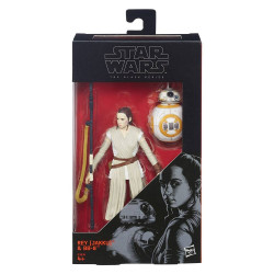 Figurine - Star Wars VII - Black Series 2015 Wave 1 - Rey (Jakku) - Hasbro