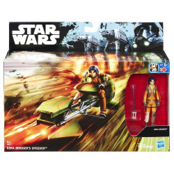 Figurine - Star Wars - B6113 Ezra Bridger's Speeder + Ezra (Rebels) - Hasbro