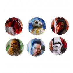 Badge - Star Wars - The Last Jedi - Pack de 6 Badges - Paladone
