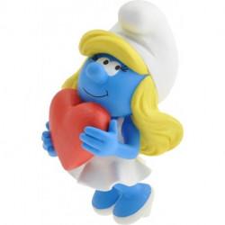Figurine - Schtroumpfs - Schtroumpfette au Coeur - Plastoy