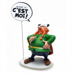 Figurine - Astérix - Collectoys - Abraracourcix Bulles Le Chef ici c'est moi - Plastoy