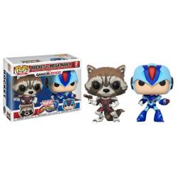 Figurine - Pop! Games - Marvel and Capcom - Rocket vs MegaMan - Vinyl - Funko