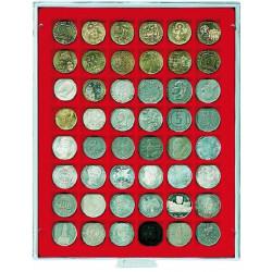 Box - 48 alvéoles carrés Ø 30 mm - Lindner