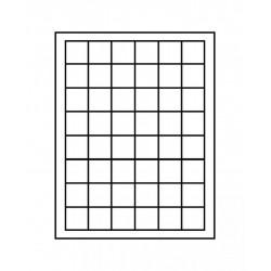 Box - 48 alvéoles carrés Ø 30 mm (bleue) - Lindner