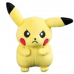 Peluche - Pokémon - Angry Pikachu - 20 cm - Tomy