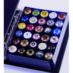 Feuille bleue pour Album ARTline pour muselet de Champagne - Safe