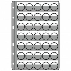 Paquet de 5 Feuilles (35 muselets) pour album COMPART - Leuchtturm