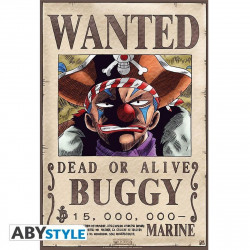 Poster - One Piece - Wanted Buggy - 52 x 35 cm - ABYstyle