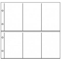 Paquet de 10 feuilles Republica XL Verticales pour cartes postales (gris) - Lindner