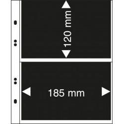Paquet de 10 feuilles Multicollect 2 poches transparentes - Lindner