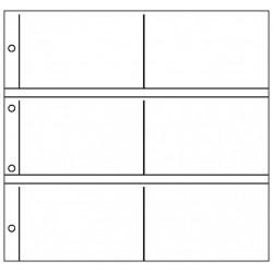 Paquet de 10 feuilles Republica XL Horizontales pour cartes postales (noir) - Lindner