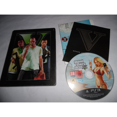 Jeu Playstation 3 - Grand Theft Auto V (Steelbook) - PS3