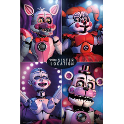 Poster - Five Night at Freddy's - Sister Location Quad - 61 x 91 cm - GB eye