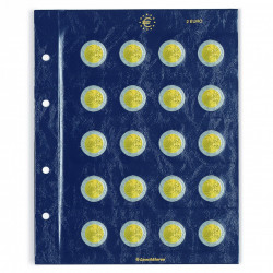 Paquet de 2 Feuilles numismatiques VISTA pour 2 euro - Leuchtturm
