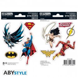 Stickers - DC Comics - Justice League - 2 planches de 16x11 cm - ABYstyle