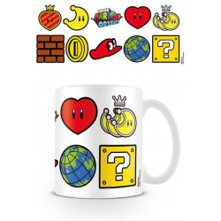 Mug / Tasse - Nintendo - Super Mario Odyssey - Icons - Pyramid International