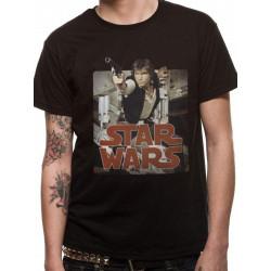 T-Shirt - Star Wars - Han Retro Badge - CID