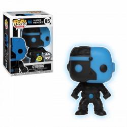 Figurine - Pop! Heroes - Justice League - Cyborg Silhouette - Vinyl - Funko