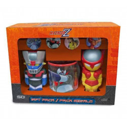 Coffret - Mazinger Z - Figurines + Mug + 4 Badges - SD Toys