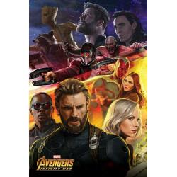 Poster - Marvel - Avengers Infinity War - Captain America - 61 x 91 cm - Pyramid International