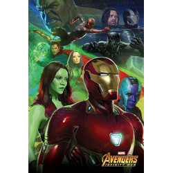 Poster - Marvel - Avengers Infinity War - Iron Man - 61 x 91 cm - Pyramid International