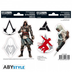 Stickers - Assassin's Creed - Edward / Altaïr - 2 planches de 16x11 cm - ABYstyle