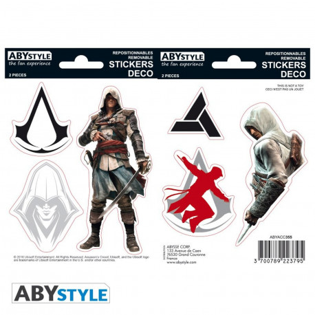 Stickers - Assassin's Creed - Edward / Altaïr - 2 planches de 16x11 cm - ABYstyle
