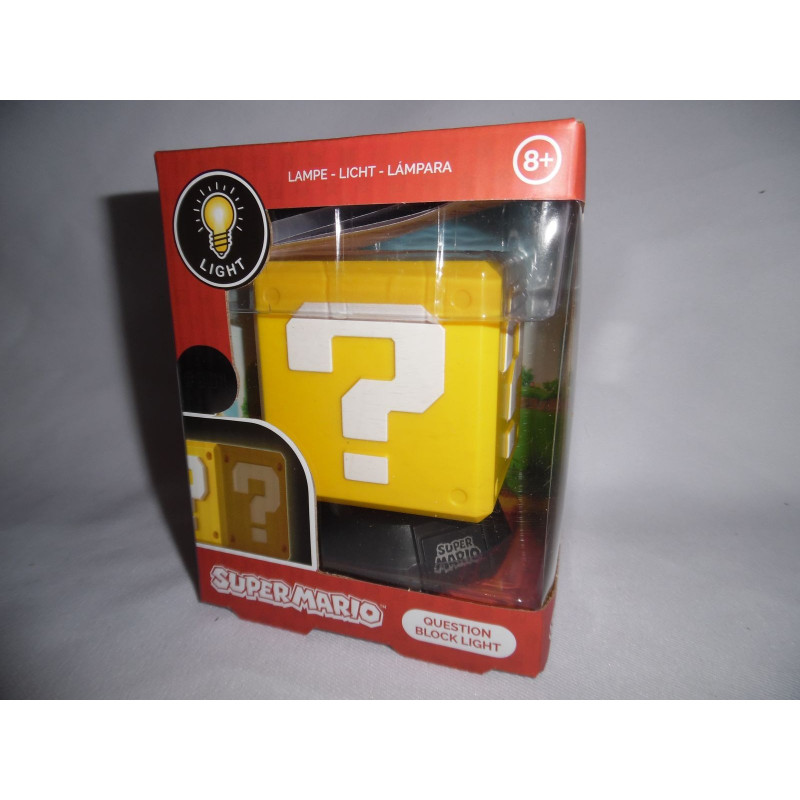 Lampe Super Mario Bros Question Block 3d Light Paladone Products