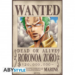 Poster - One Piece - Wanted Zoro - 52 x 35 cm - ABYstyle