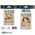 Stickers - One Piece - Wanted Luffy / Zoro - 2 planches de 16x11 cm