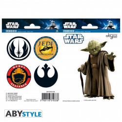 Stickers - Star Wars - Yoda - 2 planches de 16x11 cm - ABYstyle