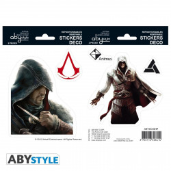 Stickers - Assassin's Creed - Ezio / Altaïr - 2 planches de 16x11 cm - ABYstyle