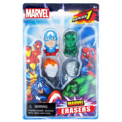 Pack de 4 Gommes - Marvel - Set A - Marvel Universe Erasers - Monogram