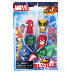 Pack de 4 Gommes - Marvel - Set B - Marvel Universe Erasers - Monogram