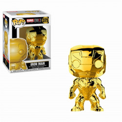 Figurine - Pop! Marvel - MCU 10th Aniversary - Chrome Iron Man - Vinyl - Funko