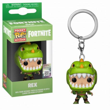 Porte Cle Pocket Pop Keychain Fortnite Rex Funko
