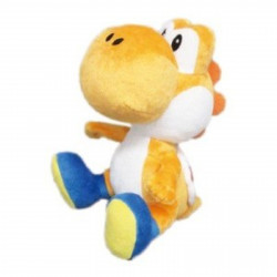 Peluche - Super Mario Bros. - Orange Yoshi - 15 cm - Little Buddy Toys