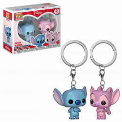 Porte-clé - Pocket Pop! Keychain - Disney - Stitch & Angel - Funko