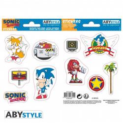 Stickers - Sonic - Sonic Retro - 2 planches de 16x11 cm - ABYstyle